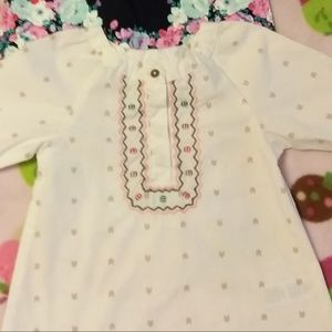 GIRL 12 MONTHS - BUNDLE OF 2 - LONG SLEEVE SHIRTS